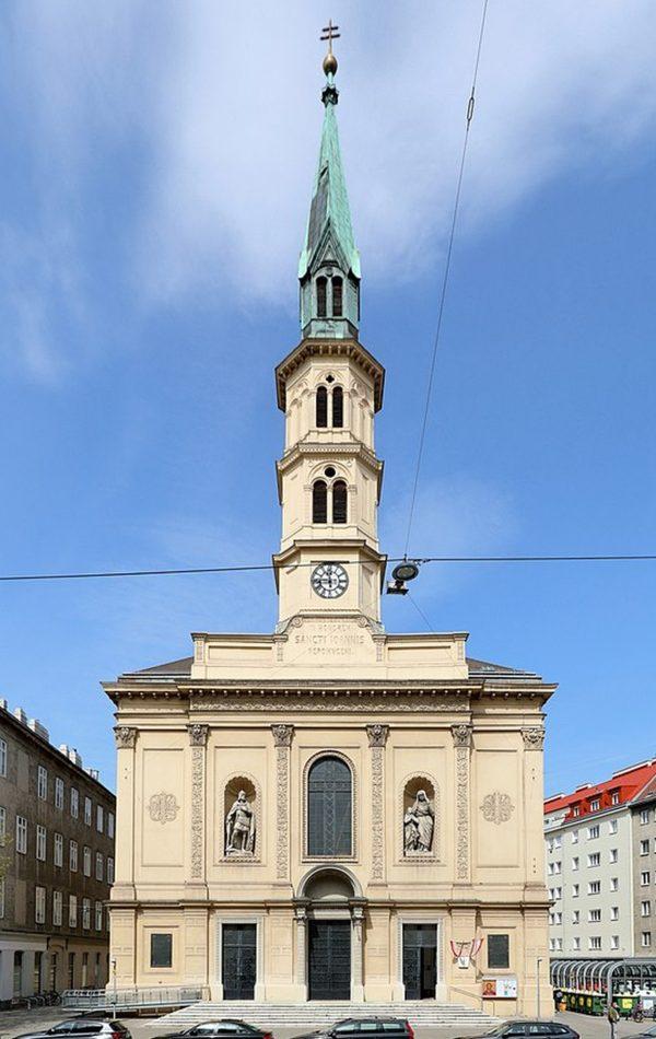 Nepomuk-Kirche Frontalansicht
